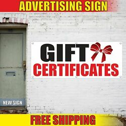 Gift Certificates Advertising Banner Vinyl Mesh Decal Sign Cards Available Wrap