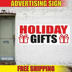 Holiday Gifts Advertising Banner Vinyl Mesh Decal Sign Wrapping Cards Open Sale