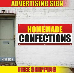 Homemade Confections Advertising Banner Vinyl Mesh Decal Sign Bakery Sweet Candy