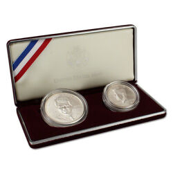 1998 Us Robert F. Kennedy And Jfk 2-coin Commemorative Set