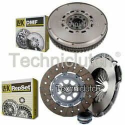 Luk 3 Part Clutch Kit And Luk Dmf For Audi A6 Berlina 2.6 Quattro