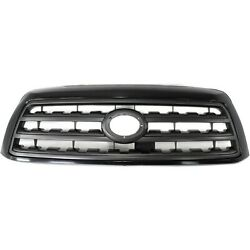 Grille For 2008-2016 Toyota Sequoia Black Shell W/ Gray Insert Plastic