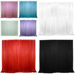 Backdrop Curtains Without Swag Wedding Party Event Stage Decor Ice Silk Drapes