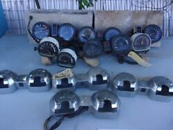 Box Of Assorted 1970and039s-1980and039s Used Vintage Yamaha Gauges And Parts27-a04-01