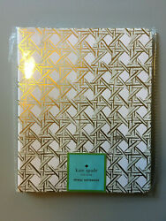 NEW Kate Spade NY Spiral NotebookJournal Gold Caning Design