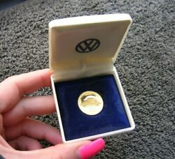 Real Gold Coin Volkswagen Vw 100000 Km 100.000 Kdf Bug Cox Beetle Nos