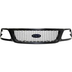 Grille For 97-2004 Ford F-150 97-99 F-250 Primed Honeycomb Insert Plastic