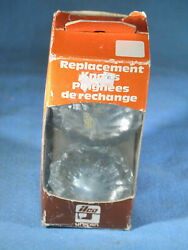 Ilco Unican 199-03-51 Crystal Glass Replacement Door Knobs W/hardware Nos