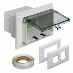 Arlington Dbhr1c-1 Low Profile In Box Electrical Box With Weatherproof Cover
