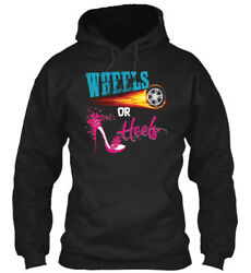 Wheels Or Heels Gender Reveal - Gildan Hoodie Sweatshirt