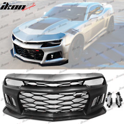 Fits 14-15 Camaro 5th To 6th Gen Zl1 Front Bumper Cover Drl Signal Fog Lights