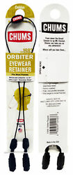 Chums Orbiter Black Ultra Light Cable Universal Fit Eyewear Retainer 12403 $11.99