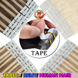 Seamless Tape In Skin Weft 100 Remy Human Hair Extensions Women Fashion Blonde