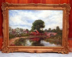 Gorgeous 19th Century Signed Listed William Hayden Fuge Pastoral Oil Painting