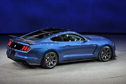 2016 Ford Mustang Shelby Gt350 Blue Poster 24 X 36 Inch