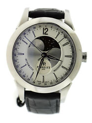 Perrelet Moonphase Silver Dial Stainless Steel Watch A1039/6