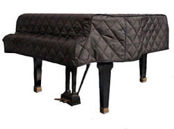 Steinway Black Quilted Grand Piano Cover With Side Slits For 5'10-3/4 Model O