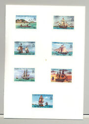 Turks And Caicos 578-592 Canoes Sailing Ships 15v Imperf Proofs In Folder