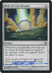 Mtg Well Of Lost Dreams Darksteel Rare Signed By Artist Jeff Miracola W/ Coa Nm