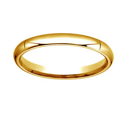 14k Yellow Gold 3mm High Dome Heavy Comfort-fit Bridal Ring 10