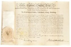 1813 Ct. Governor John Cotton Smith Appointments Nathaniel Terry Militia General