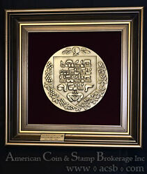 Israel 1994 150mm Brass Blessed Be This Home State Modelia Original Case Coa