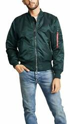 Alpha Industries Ma-1 Blood Chit Jacket Bomber Green