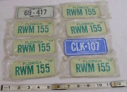 Wheaties Cereal Bicycle Mini State License Plate X8 Still In Packages 1978