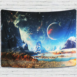 USA Space Planet Tapestry Wall Hanging Tapestry Art Bedspread Home Dorm Decor