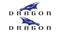 Set Of 2 Spacex Dragon Decals Stickers For Boat Hull Yach Truck. Mail W/tracking