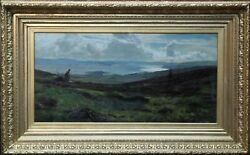 SIR DAVID MURRAY VICTORIAN SCOTTISH ART EXHIBITED CLYDE LANDSCAPE OIL PAINTING