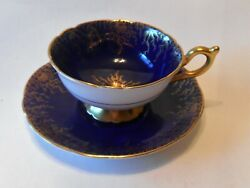 Vintage Coalport English Bone China Footed Cup And Saucer
