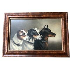 Alfred Wheeler British Oil on Board Terrier Dog Portrait