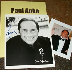Paul Anka Autographed Photo And Photos Really Collectible