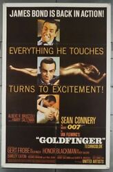 Goldfinger 1964 27917  Sean Connery As James Bond Movie Poster