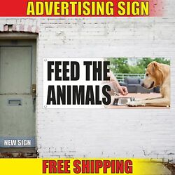 Feed The Animals Advertising Banner Vinyl Mesh Decal Sign Zoo Pet Farm Ranch