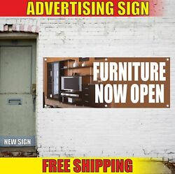 Furniture Now Open Advertising Banner Vinyl Mesh Decal Sign Store Shop Soon Best