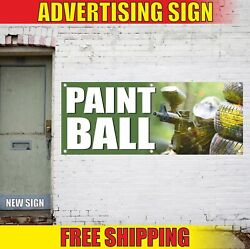 Paintball Advertising Banner Vinyl Mesh Decal Sign Game Fun Sport Play Match Now