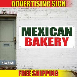 Mexican Bakery Advertising Banner Vinyl Mesh Decal Sign Pastry Food Candy Cake