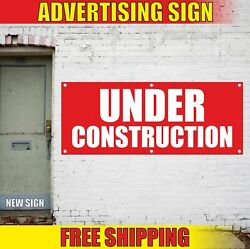 Under Construction Advertising Banner Vinyl Mesh Decal Sign Warning Many Sizes