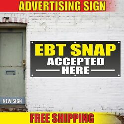 Ebt Snap Accepted Here Advertising Banner Vinyl Mesh Decal Sign Use Cards Food