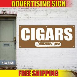 Cigars Advertising Banner Vinyl Mesh Decal Sign Tobacco Smoke Shop Store Pipes