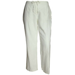 Charter Club 1x 2x 3x White Fully Lined 100 Linen Pants Nwt Free Ship Plus Size
