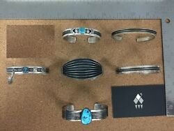 Vintage Native Sterling Silver Stripes Lot 1 - Sold Individually On Request