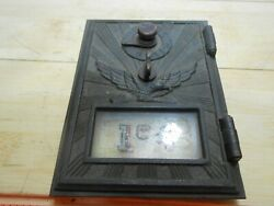 194 Art Deco Brass Eagle Postal Mail Box Plate Door Orig. Glass And Combination.