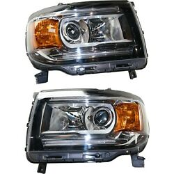 Headlight Set For 2015 2016 2017 2018 Gmc Canyon Left And Right With Bulb 2pc