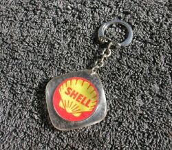Shell Oil Vintage Car Key Ring Chain Classic Accessory