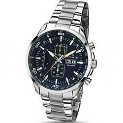 Accurist Mens Watch Chronograph Day Date Steel Bracelet 7005