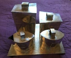Neiman Marcus Silver Plated Coffee Time 5 Piece Coffee Service