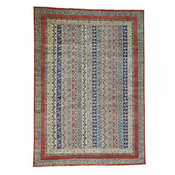10and039x13and0399 Super Kazak Khorjin Shawl Design Hand-knotted Pure Wool Rug R36862